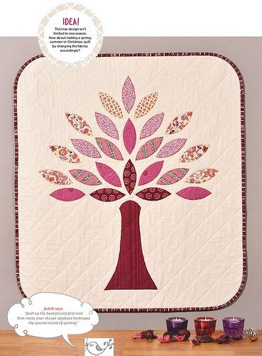 Autumn Tree Wallhanging (Pretty Patches Oct16 issue) | by Just Jude Designs