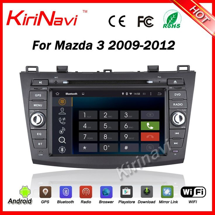 Kirinavi WC-MZ8003 Android 5.1 car dvd player car gps map for mazda 3 2009-2012 Mp3/Mp4 player WIFI 3G Playstore