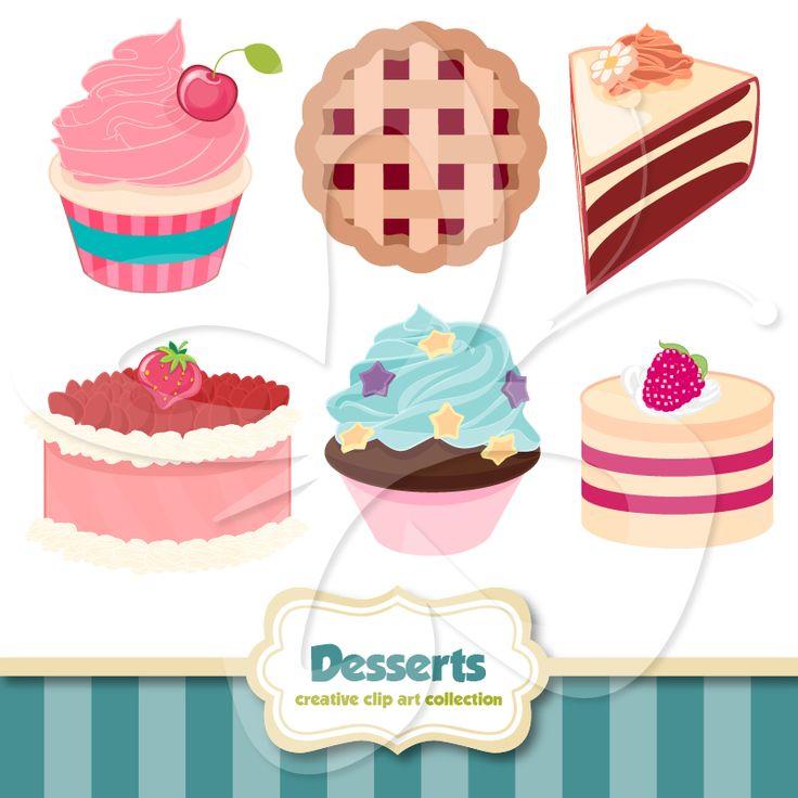 Dessert Clip Art Set $4 | Food Clip Art | Pinterest