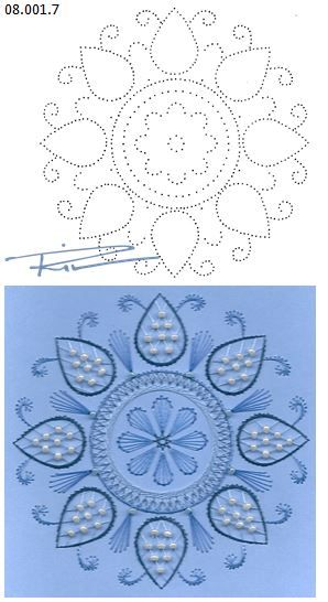 Rit Vanschoonbeek 08.001.7 borduren op papier