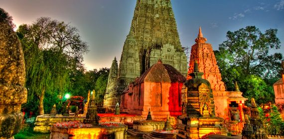 Mahabodhi Temple, India. Buddha reached enlightenment here after awakening from three night's rest under a Bodhi tree.
