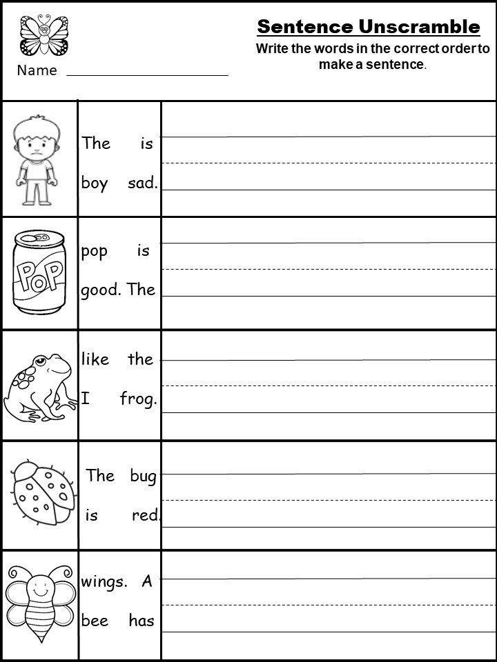 Kindergarten Writing Worksheets For January - Kindermomma.com Writing  Worksheets Kindergarten, Writing Sentences Worksheets, Writing Practice  Worksheets