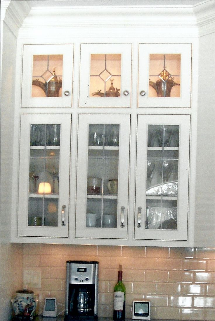 169 best images about glass cabinet doors on pinterest for Glass kitchen cabinet doors
