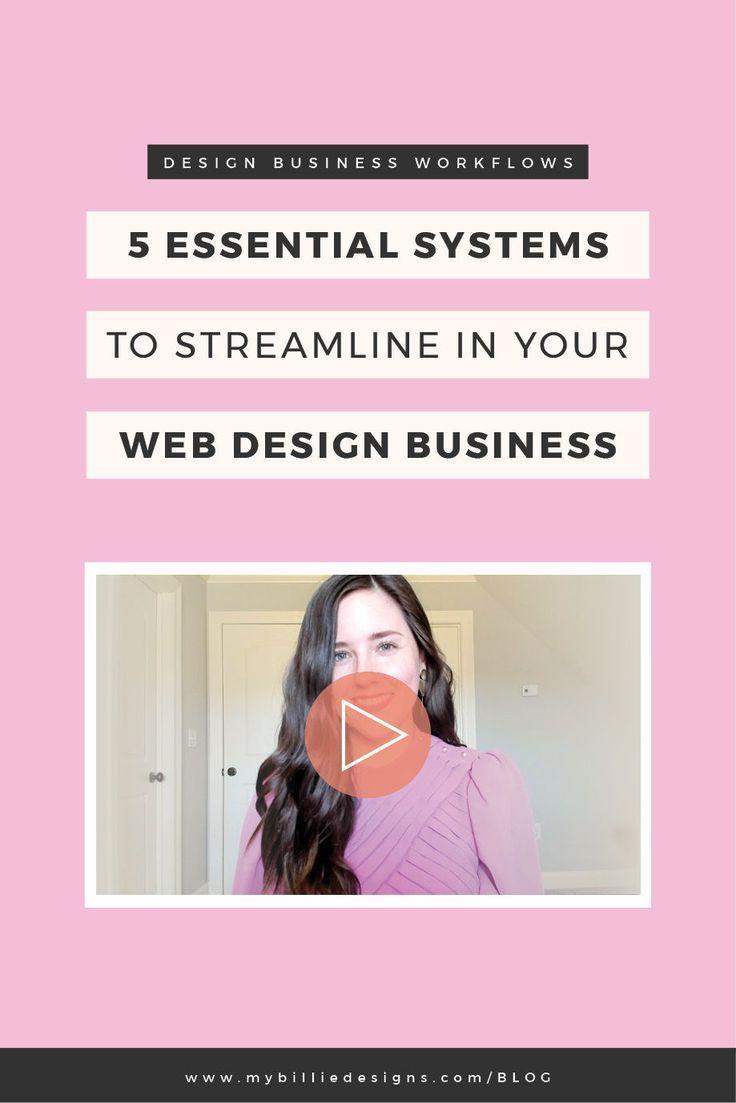 5 Essential Systems To Streamline In Your Web Design Business My Billie Designs Web Design Business Design Freelance Web Design