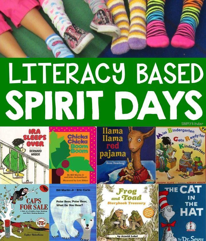 literacy based spirit day ideas http://www.simplykinder.com/spirit-day-ideas/