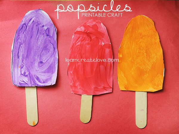{ Printable Popsicle Craft }