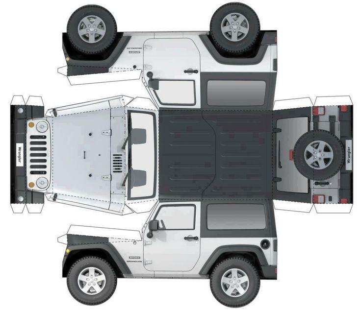 rubicon4wheeler: Cut and Fold Paper Jeep Wrangler