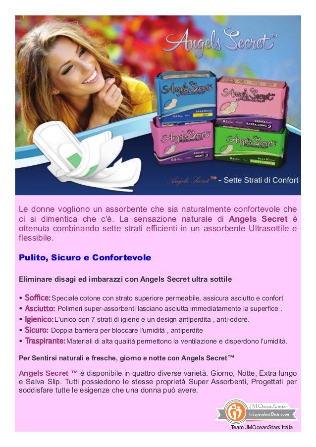 Assorbenti Angels Secret - JM Ocean Avenue  by Viviana Schiavetta via slideshare
