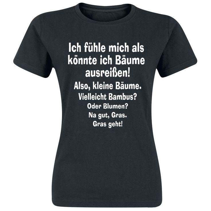 Bäume ausreißen T-Shirt, Frauen schwarz