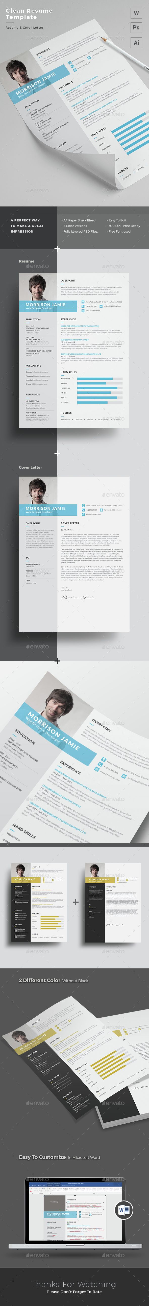 17 best images about cv resume template resume