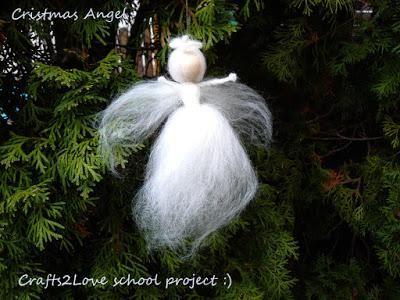 DIY Tutorial DIY Christmas Angel / DIY Felted Christmas angel - Bead&Cord
