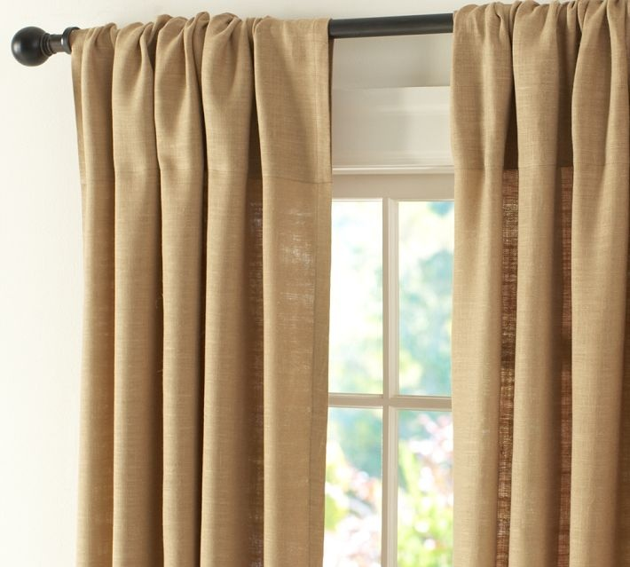 Pottery Barn Burlap Curtains | Pretty little home | Pinterest