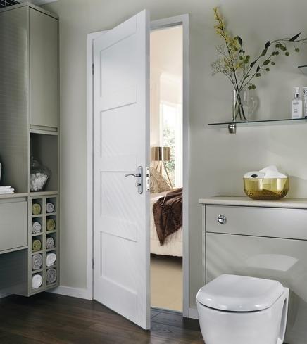 Primed 4 Panel Shaker | Internal Stile & Rail Doors | Doors & Joinery | Howdens Joinery
