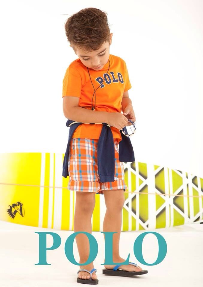 Something for the little surfer dudes, Polo tees in various brights.