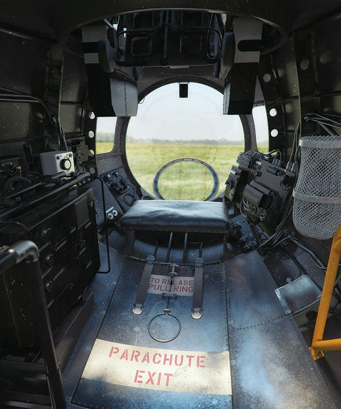 The escape hatch in the nose of the Lancaster which the crew would need to use in the event of needing abandon the aircraft by parachute.