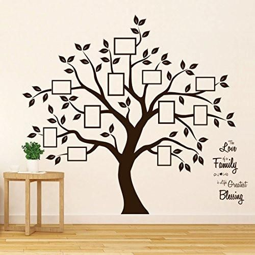 Timber Artbox Stunning Household Tree Wall Decal with Quote – The Solely Décor You Want for Residing Room &