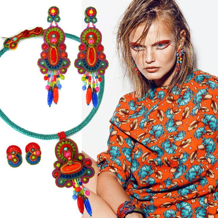 Forme e gusto internazionale, look grintoso ed eclettico e una texture dal sapore pop per una collezione pensata per attirare l'attenzione . http://www.aibijoux.com/designer/dori-csengeri/ #DoriCsengeri #AIBIJOUX #fashionjewelry #earrings #bijoux #accessorimoda