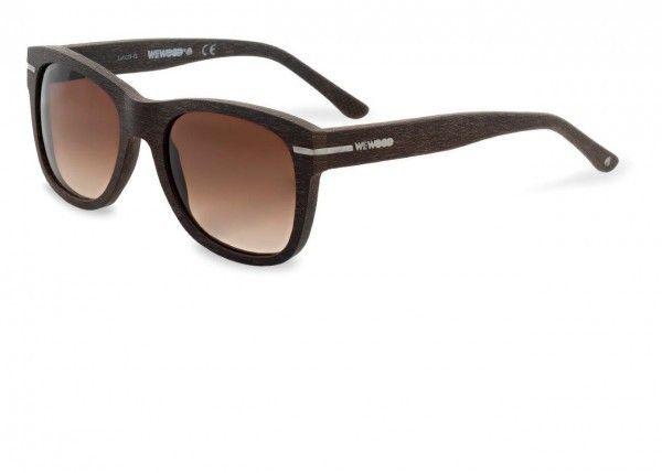 Crux Brown 18 Silver / Purple Gradient Baumwoll-Holzsonnenbrille