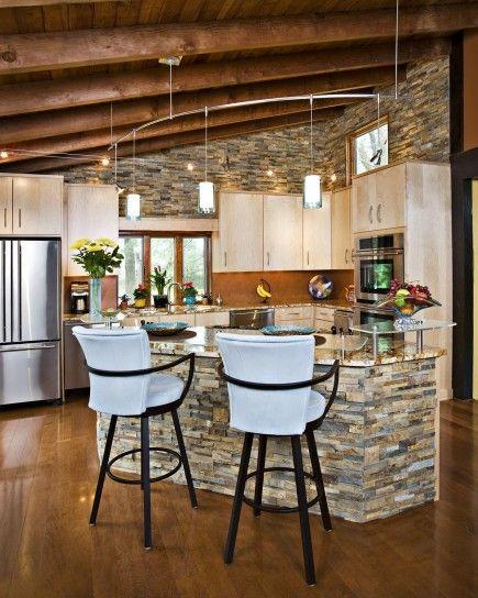Isola in muratura per la cucina