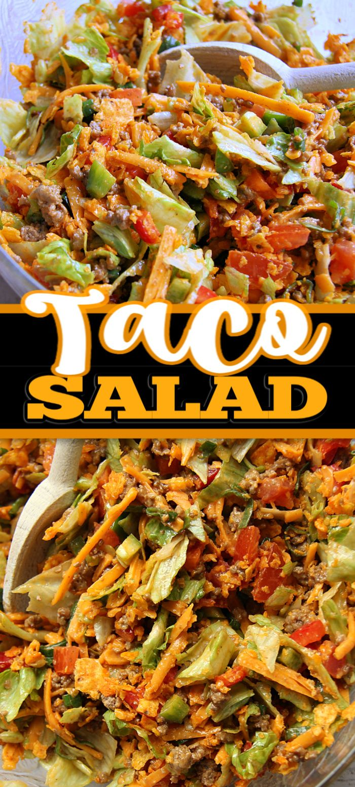 Jul 14, 2020 – This TACO SALAD recipe is my go-to when I want a quick and easy meal. I love the spices and Doritos crunc…