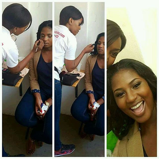 Hazvinyi Chiota had her first official shoot this weekend for Edgars Zimbabwe. Make up done by Chic Street Studio wit Black Opal products #bofoz2016shoot #DefineYourBeauty #ZimbabweanBeauty