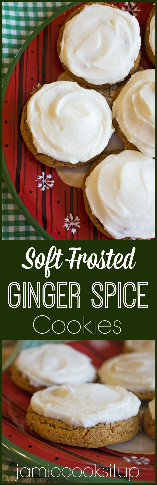 Soft Frosted Ginger Spice Cookies