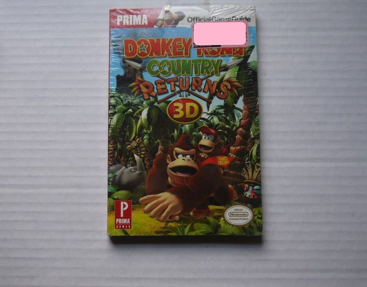 DONKEY KONG COUNTRY RETURNS 3D PRIMA OFFICIAL STRATEGY GAME GUIDE SEALED