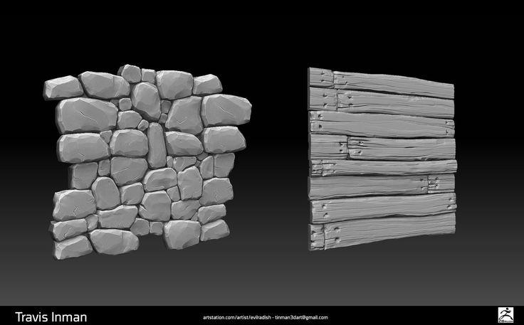 Zbrush Sculpt - Tileable Textures, Travis Inman on ArtStation at https://www.artstation.com/artwork/NbDnq