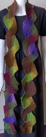 Mochi Plus 10 Stitch Zig Zag Scarf - Crystal Palace Yarns - free knit scarf pattern