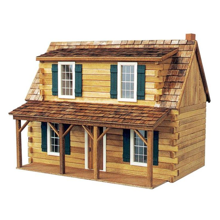 Have to have it. Real Good Toys Adirondack Cabin Dollhouse Kit - 1 Inch Scale - $120 @hayneedle