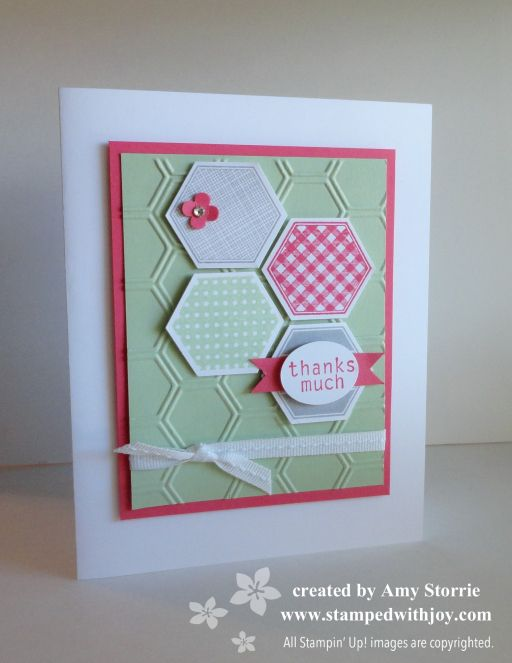 Love this card!  Thanks Amy! Six-Sided Sampler Thanks