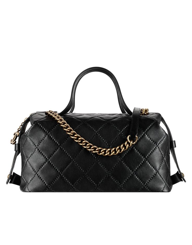 Calfskin bowling bag - CHANEL
