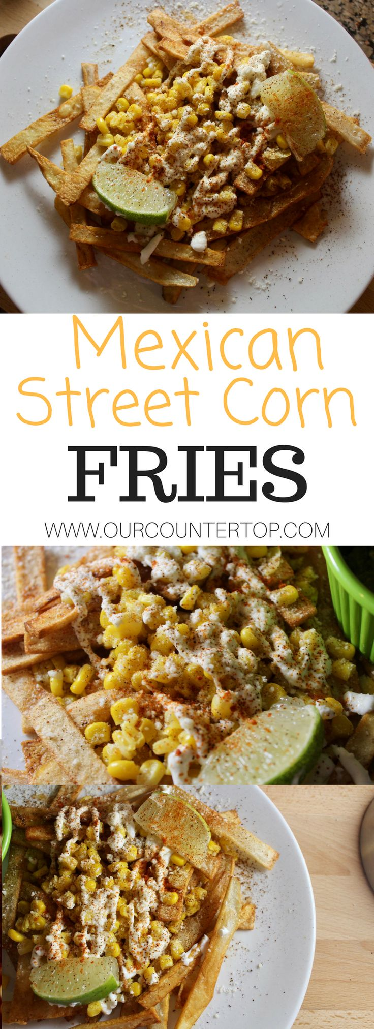 These Mexican Street Corn (Elote) fries are delicious and full of flavor!