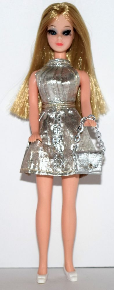 Topper Dawn Doll Chorus Line Cat Eye Dawn Silver Dress, Shoes, Purse,..! Lot B2 #Topper #DollswithClothingAccessories