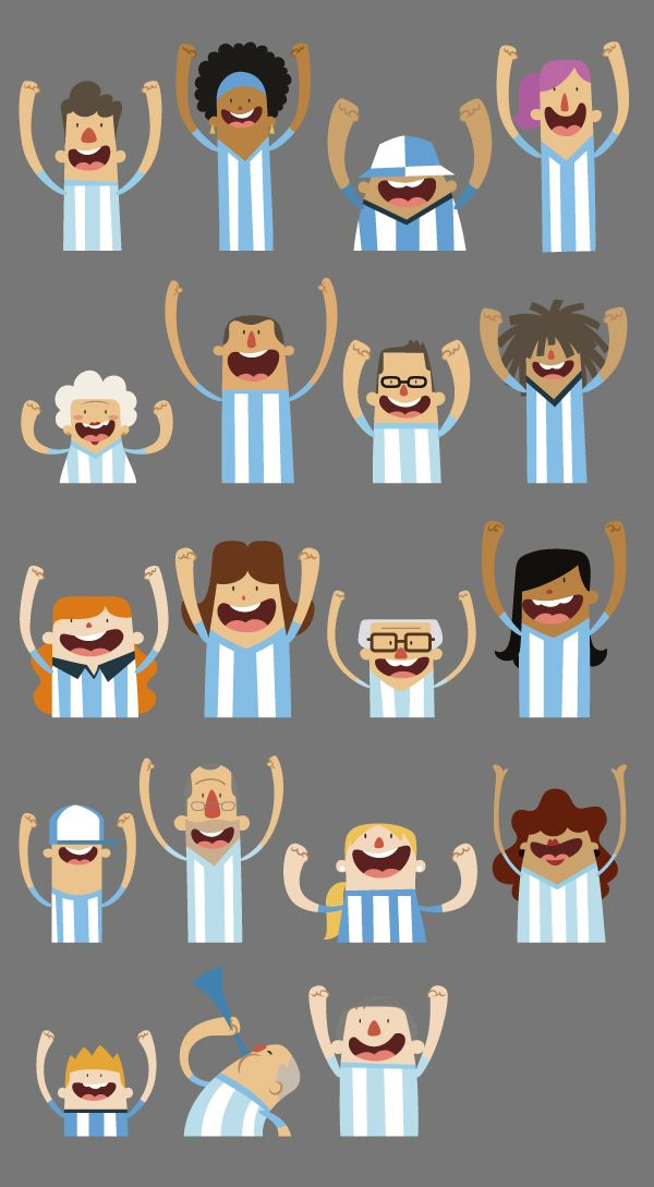 Character´s illustration - World Cup Brazil 2014  by Ignacio López Arambarri, via Behance