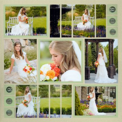 7 photo ...Pattern 99 - Square Focal Point with Photo Strip Elements
