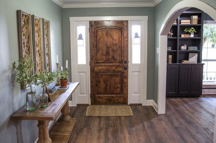 This entry leads you right into the main living space, but was painted a separate color to define it as its own separate space.