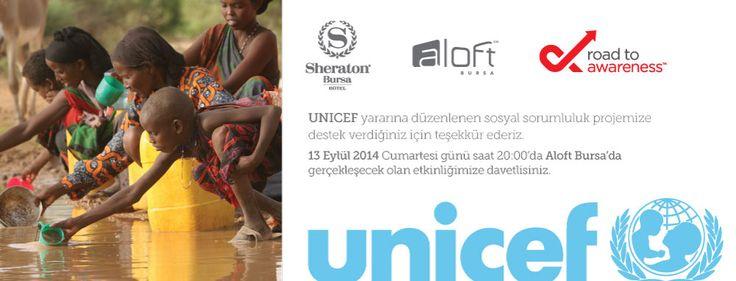Sheraton Bursa ve Aloft Bursa Otelleri olarak 13 Eylül Cumartesi günü saat 20:00'da Aloft Bursa'da gerçekleşecek bir etkinlik düzenliyoruz. DJ Furkan Kozanlı ve Cosmic Band'in sahne alacağı ve tüm gelirin UNICEF'e bağışlanacağı Road to Awareness 2014 etkinliğine, konuya duyarlı herkesi hem eğlenmek hem de bu anlamlı projede desteklemek için davet ediyoruz!   #aloftbursa #sheratonbursa #starwoodhotels #unicef #roadtoawareness #r2a