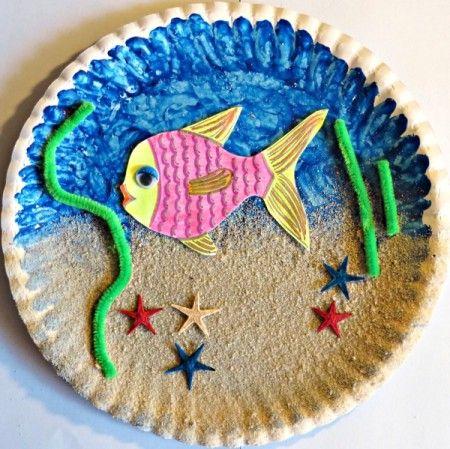 Paper Plate Sea Aquarium