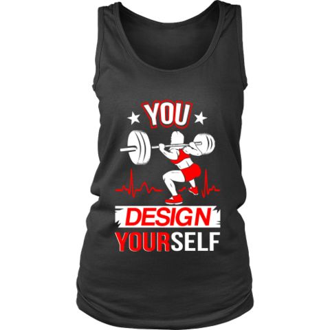 Bodybuilding - Lifting 'Design Yourself' District Women's Tank