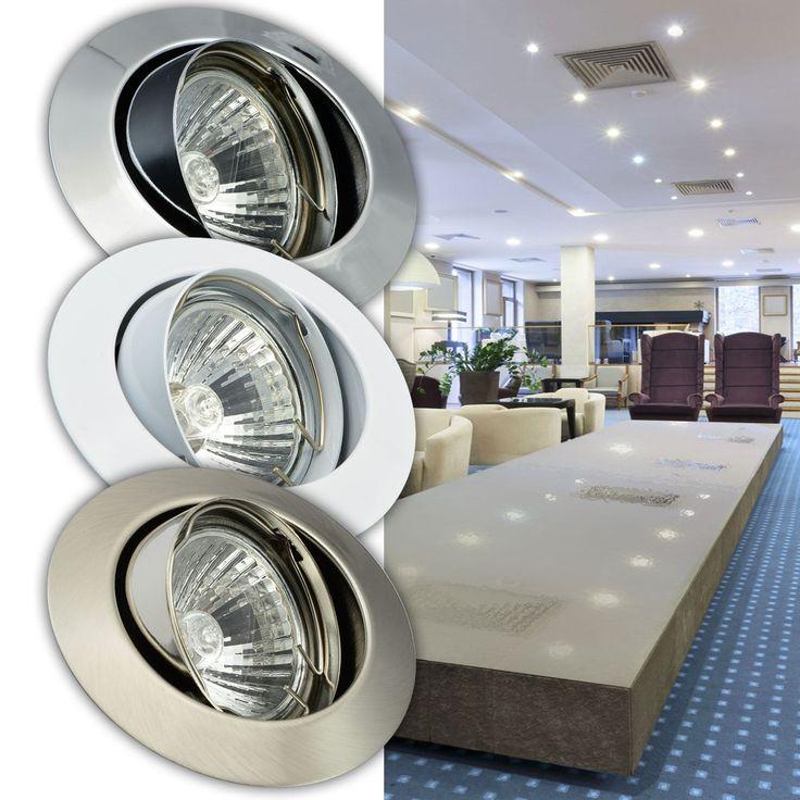 Einbaustrahler LED 5W Einbauspot Halogen 20W 35W 50W Strahler Spot Lampe 104 | eBay