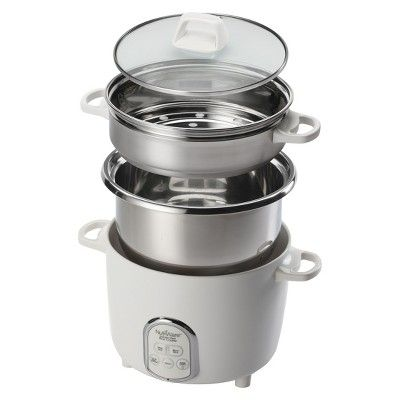 Aroma 14-Cup Stainless Steel Rice Cooker