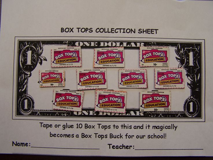 Mountain View Elementary » Box Tops for Education