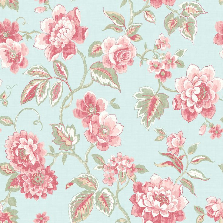 Galerie Jacobean Trail Duck Egg Blue Wallpaper main image