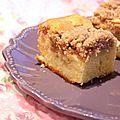 Voici un délicieux gâteau aux pommes recouvert d'un crumble à la cannelle. C'est un beau gâteau pour l'automne, non ? Ingrédients : (pour...