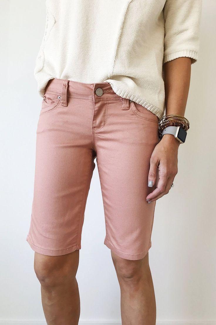 Mauve Bermuda Shorts   ROOLEE