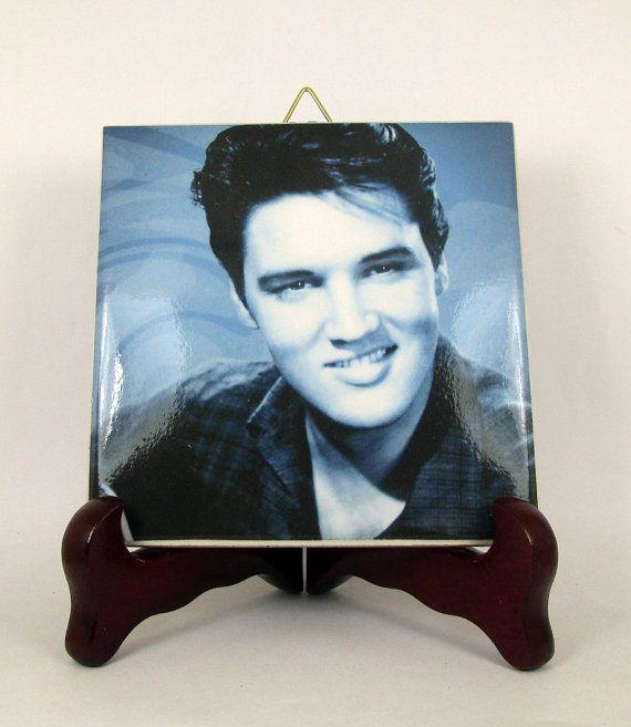 Elvis Presley Ceramic Tile  Handmade from Italy  by TerryTiles2014