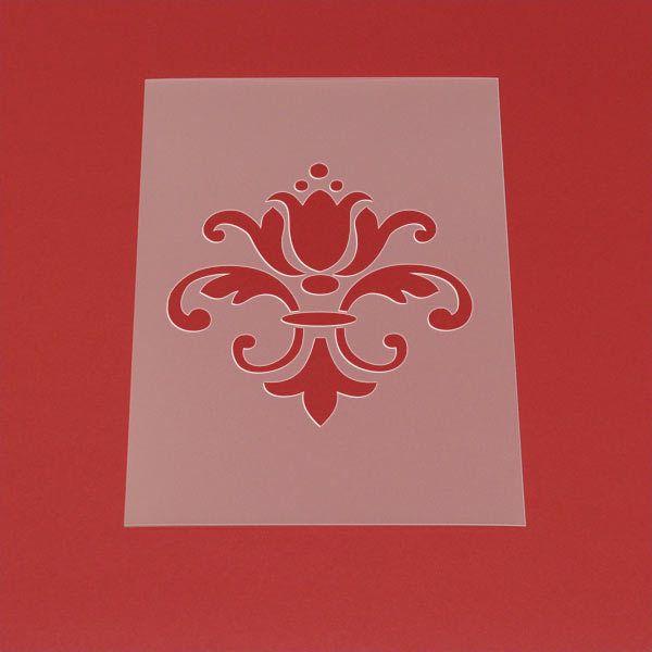 Schablone Damask Barock Muster Ornament - MO24 von Lunatik-Style via dawanda.com
