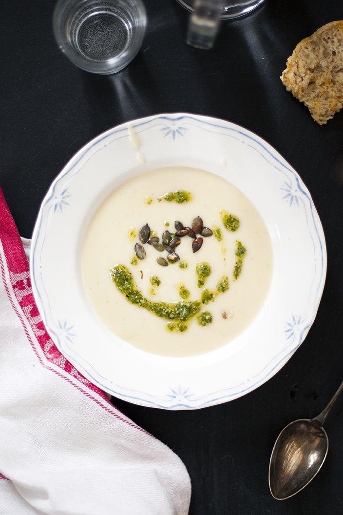 Soppa på purjo potatis palsternacka