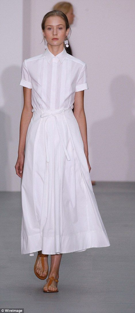 Collars and shirt dresses were prominent on the catwalk....
